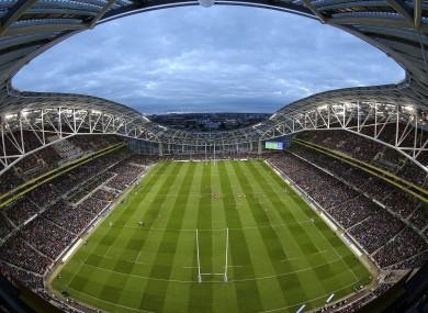 Leinster will host Munster at the Aviva Stadium in March.