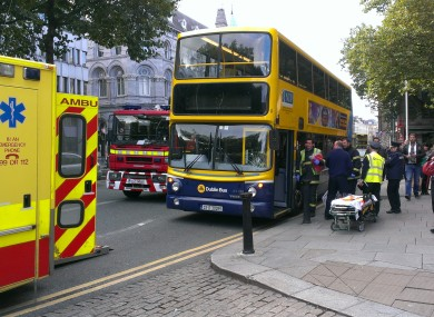 Accident at College Green, Dublin today.