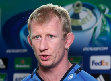 The Leinster captain won't play any part at Thomond.