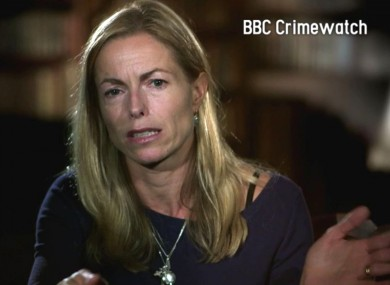 Kate McCann on the BBC Crimewatch programme on BBC One last night, describing the moment she realised her daughter was not in her bedroom.