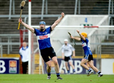 Michael Cussen found the net twice for Sarsfields this afternoon. (file photo)