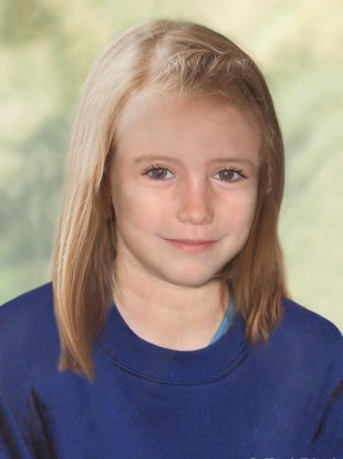 A handout photo of an age progression image of Madeleine McCann.