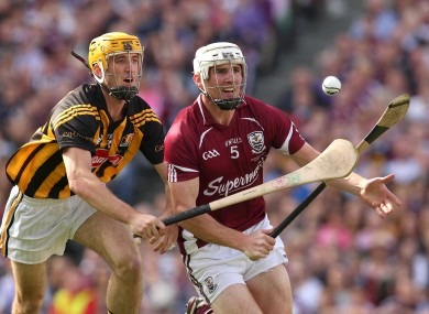 Niall Donoghue in action for Galway in the 2012 All-Ireland final.