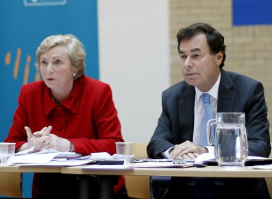 Minister for Children Frances Fitzgerald and Justice Minister Alan Shatter