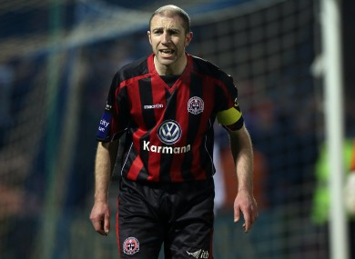 Heary playing for Bohemians this season.