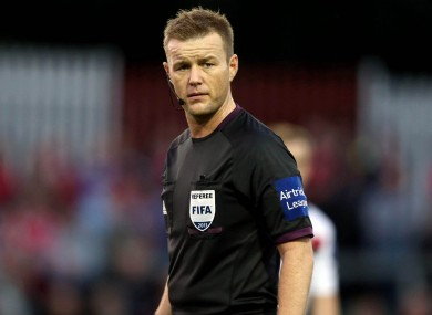 Referee Alan Kelly will finish up with the League of Ireland in the coming weeks.