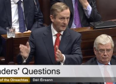 The Taoiseach in the Dáil this morning