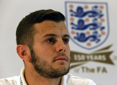 Wilshere speaking at yesterday's press conference.