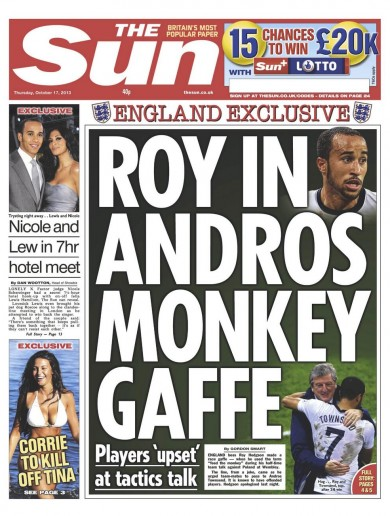 Townsend: No offence caused by Hodgson monkey joke