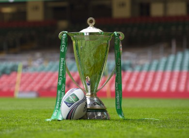 The Heineken Cup looking worried about its future.