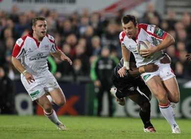 Tommy Bowe scored Ulster's only try of the night.