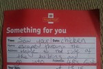 This brilliant 'delivery note' was left by the world's greatest postman