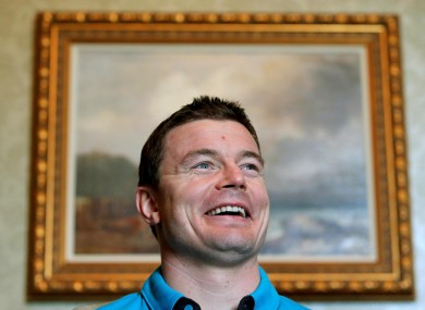 Brian O'Driscoll was in good form at a session for print media at Carton House today.