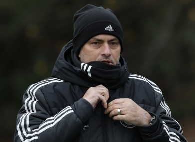 Chelsea's manager Jose Mourinho arrives for a training session at Cobham training ground.