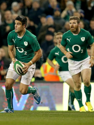 Conor Murray and Gordon D'Arcy in action against Samoa last week.