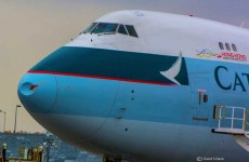 This is the damage a bird can do hitting a 747 mid-flight