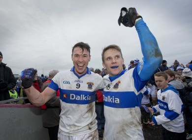 Fennell, left, celebrates with Mossy Quinn after Sunday's quarter-final.