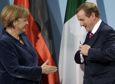 Angela Merkel and Taoiseach Enda Kenny meeting in Berlin earlier this month