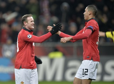 Rooney: had a hand in United's first four goals.
