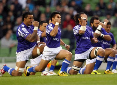 Samoa will bring aggression and power, but not much ability under the high ball.