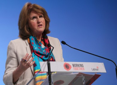 Joan Burton speaking at the Labour conference.