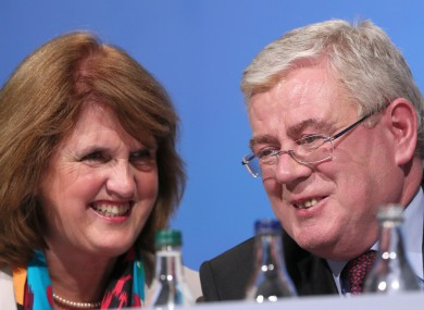 Joan Burton and Eamon Gilmore were happy-out at the Labour conference this weekend.