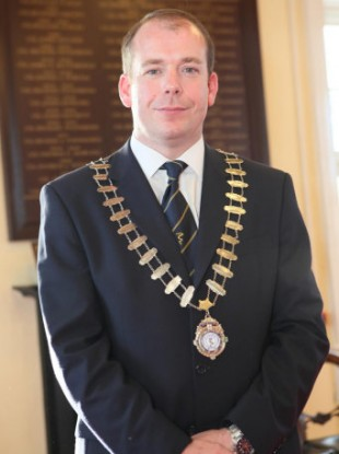 Darren Scully during his time as mayor of Naas