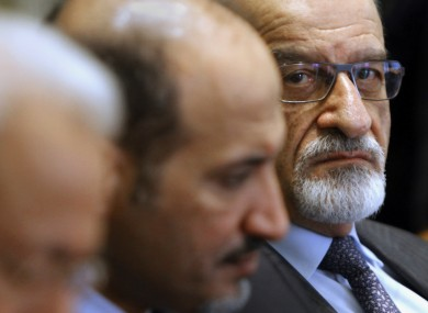 Haitham Al-Maleh, a member of the Syrian opposition, at a meeting with the Arab League in Cairo earlier this month