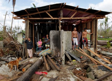 Sonia Garrido's family in a village on Leyte island has lost everything.