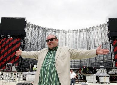 Paul McGuinness at U2's Vertigo tour in 2005.