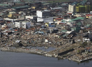 The devastation caused by Typhoon Haiyan, are seen today in Tacloban city.