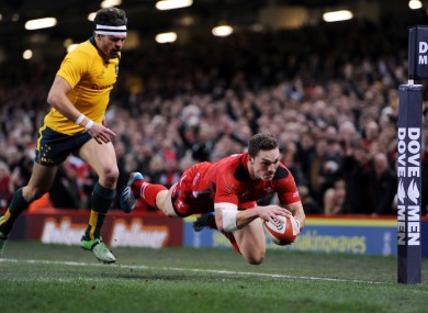 North touches down early on for Wales.