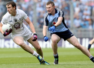 Sean Hurley in action against Dublin in June.