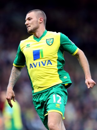 Pilkington in action for Norwich.