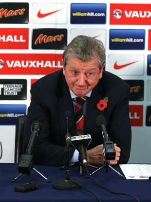 England's manager Roy Hodgson during the press conference at Wembley today.