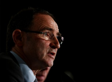 O'Neill at Saturday's press conference.