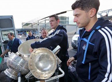 Brogan and Cluxton preparing for a trip to North America last week.