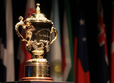 Will the William Webb Ellis Cup be coming to Ireland in 2023?