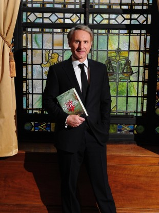 Dan Brown promoting his novel Inferno.