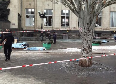 A dozen people were killed and scores were wounded yesterday by a suicide bomber at a railway station in southern Russia.