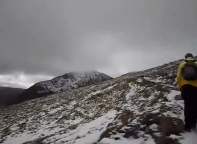 Wintry conditions on Mount Brandon, recorded by walkers earlier this year