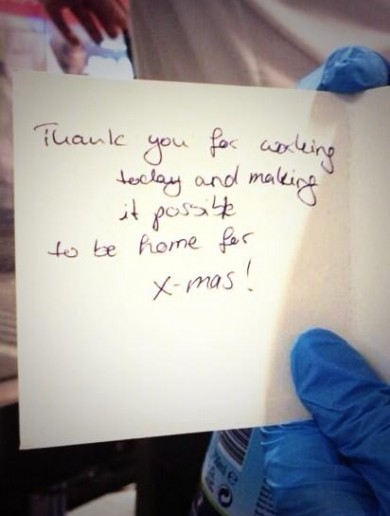 Passenger leaves heartwarming message for staff at Dublin Airport