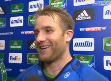 Luke Fitzgerald scored a treble for Leinster last night.