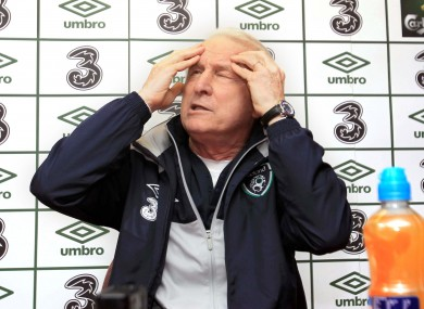 Giovanni Trapattoni: frustrated by depth of Ireland squad.