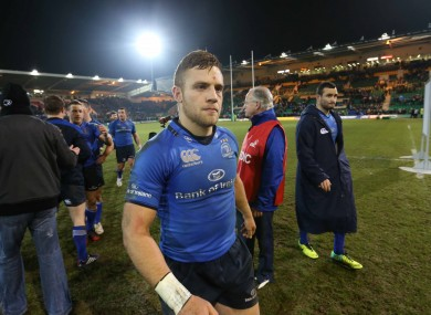 Ian Madigan leaves the Franklin's Gardens pitch after Leinster beat Northampton.