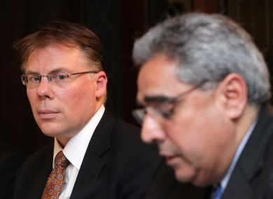 IMF's Mission Chiefs to Ireland, Craig Beaumont (left) and Ajai Chopra.