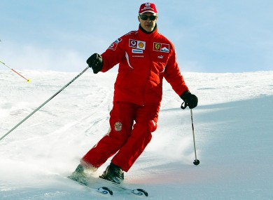 Michael Schumacher was known as a keen skier during his time in Formula One.