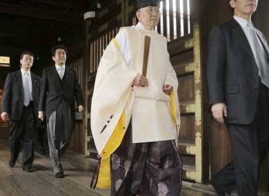 Japanese Prime Minister Shinzo Abe's war shrine visit