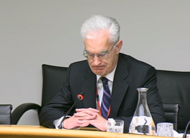 Incoming chairman of Eirgrid John O'Connor pictured at committee yesterday