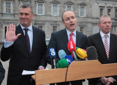 Colm Keaveney waves hello to his political future.